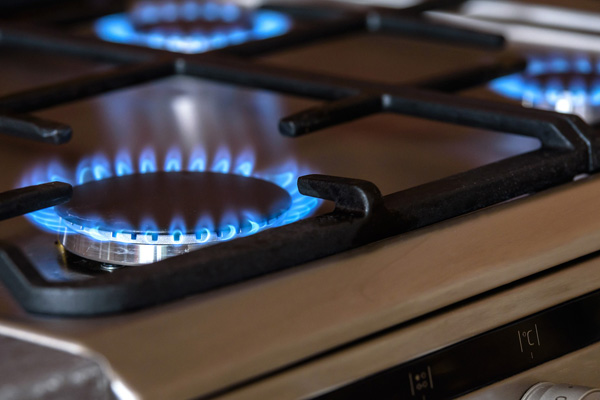 image of gas hob cooker