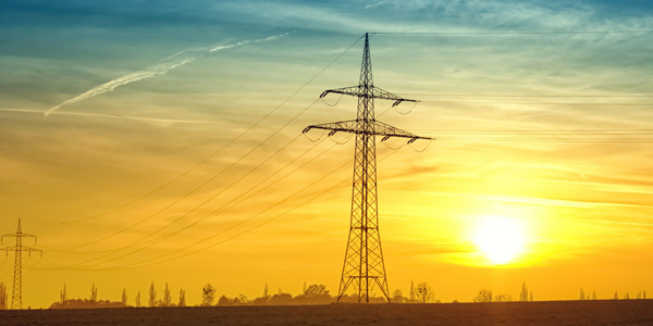 image of electricity pylons